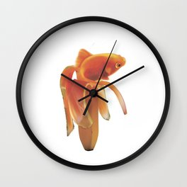 Golg Fish banana Wall Clock