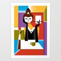 breakfast Art Prints featuring Breakfast by Szoki