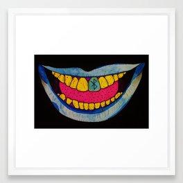 Blue Teeth Framed Art Print
