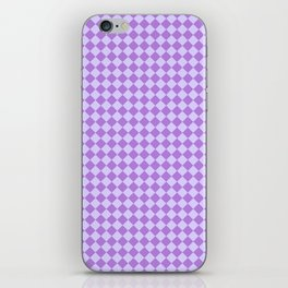 Pale Lavender Violet and Lavender Violet Diamonds iPhone Skin