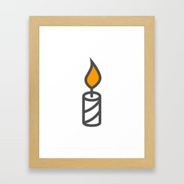 Candle in Design Fashion Modern Style Illustration Framed Art Print