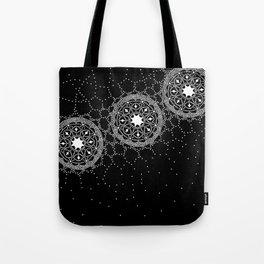 Star Lace Lattice Black Tote Bag