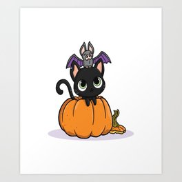 Cute Halloween Illustration Art Print