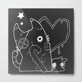 Ghost cat (Monotone) Metal Print
