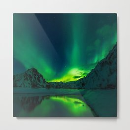 Aurora borealis northern Metal Print