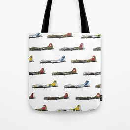 Classic B-17 Flying Fortress Continuous Pattern Tote Bag