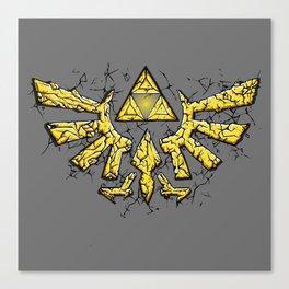 Triforce yellow Canvas Print