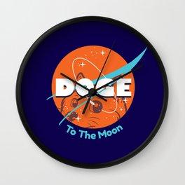 Doge Nasa Variant (To The Moon!) Wall Clock
