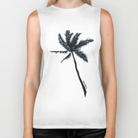 coconut wishes Biker Tanks featuring Coconut Palms by Art by Risa Oram