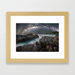 Milky Way Over the Ocean Framed Art Print