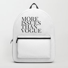 more issues Backpack