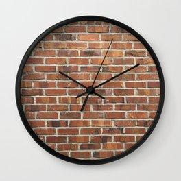 copper brick wall Wall Clock