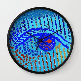 Queen Elizabeths Eyes Wall Clock