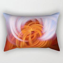 Heaven And Hell Light Fibers Rectangular Pillow