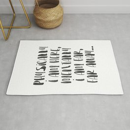 Wall Decor, Minimal type print, wall art print, poster, typography quote, home decor, black and whit Rug