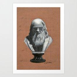Leonardo Da Vinci Bust Portrait Art Print