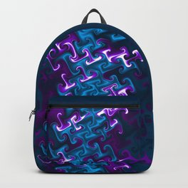 Teal and Purple Gnarl Backpack