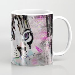 Siamese with Abstract Background & Black Edging Coffee Mug