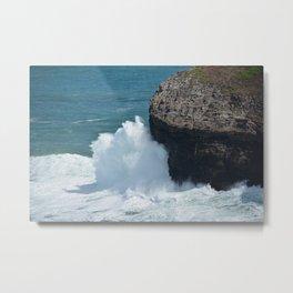 Cliff at Kilauea Lighthouse in Kauai Metal Print