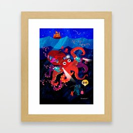 Octo-bus to happyland Framed Art Print