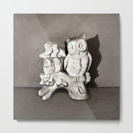 Porcelain Owl Metal Print