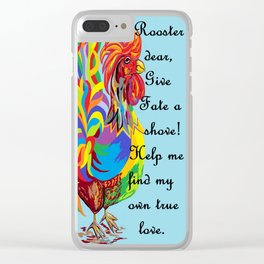German Folklore Roosters and Husbands Clear iPhone Case