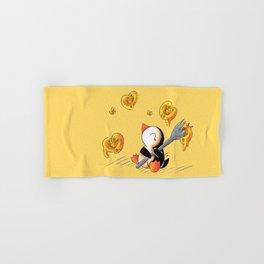 Gooey, Cheesy Hearts Hand & Bath Towel