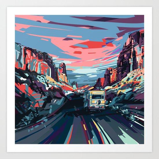 american landscape 4 Art Print