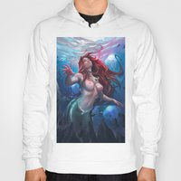 ariel Hoodies featuring Ariel by abraaolucas