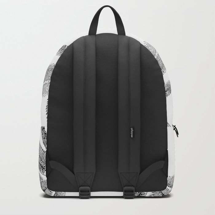Vintage Palm Tree black and white Backpack