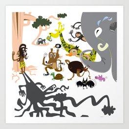 123 Pica Paret Art Print