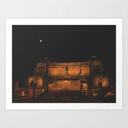 Rome - Moon Art Print