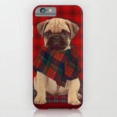 The Plaid Poncho'ed Pug iPhone 6s Slim Case