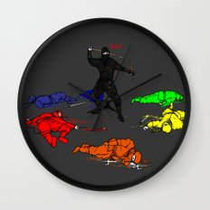Anti-Colored Ninja Wall Clock