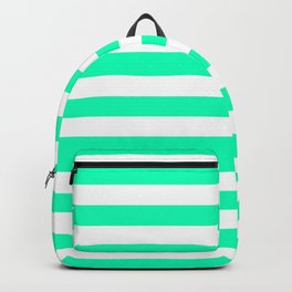 Mint and White Stripes Backpack