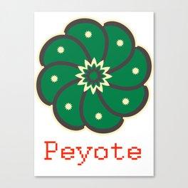Peyote Cactus Canvas Print