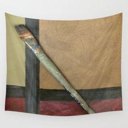 Artist Brush On Abstract Copper Canvas Artwork - Vintage - Modern Art - Corbin Henry Wall Tapestry