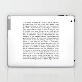 The Wisdom of Buddha Laptop & iPad Skin