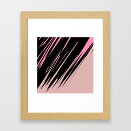 abstract / cut my love into pieces Framed Art Print