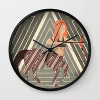 archer Wall Clocks featuring ARCHER by Kiley Victoria