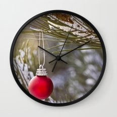 Christmas is here Wall Clock