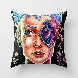 Conexión Cerebro-celular Throw Pillow