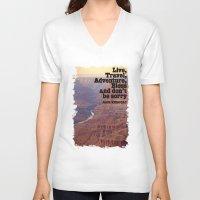 kerouac V-neck T-shirts featuring Kerouac by muffa