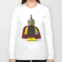 gladiator Long Sleeve T-shirts featuring Roman gladiator Minifig by Jarod Pulo
