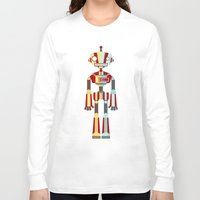 robot Long Sleeve T-shirts featuring Robot by LindseyCowley