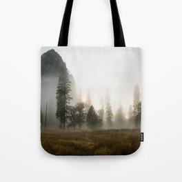 Yosemite Valley in Fog Tote Bag