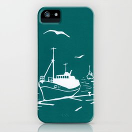 Comrades in Turquoise iPhone Case