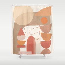 Marrone Geometry 4 Shower Curtain