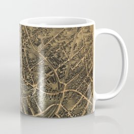 Aerial View of Middletown, New York (1874) Coffee Mug