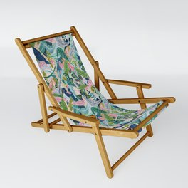 Jungle Pattern Sling Chair
